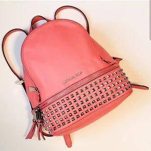 Michael Kors Pink Studded Rhea Backpack